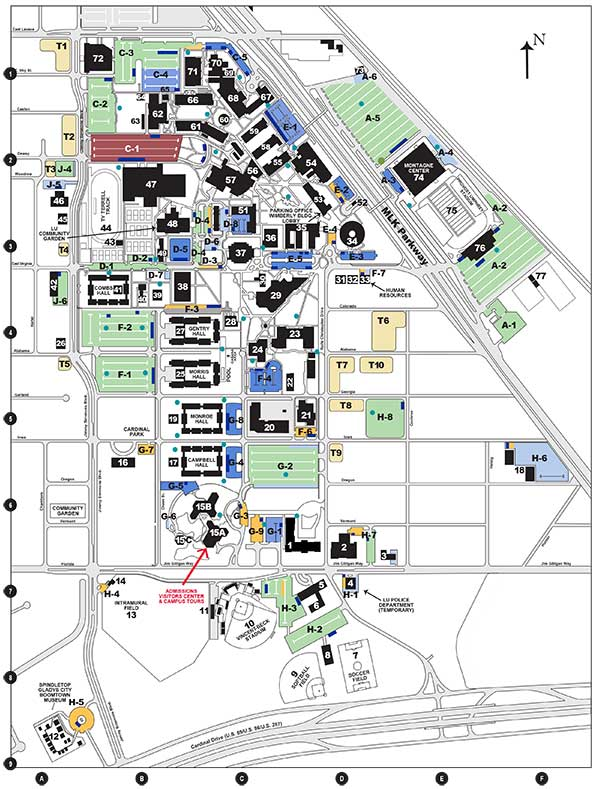 Campus Map | Lamar University in Texas - Lamar University