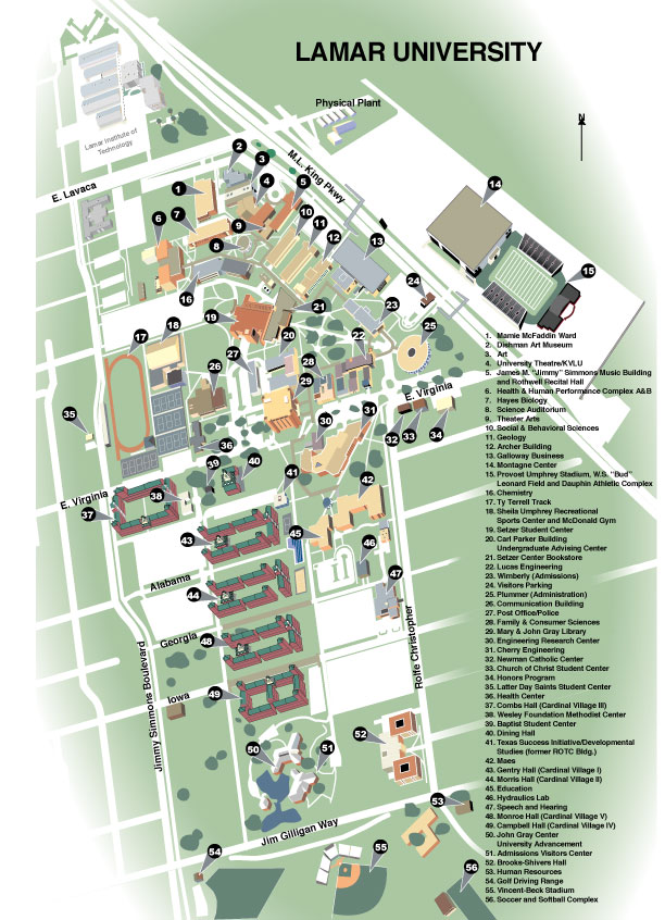 Campus Map Lamar University – Map University