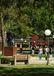 campus photo near Jack Brooks statue