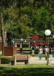 campus photo near Jack Brooks statue