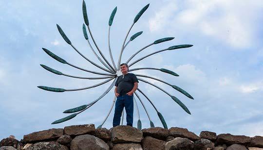 James Surls commissions for LU Sculpture