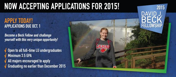 Beck Fellowship Applications Due October 1st