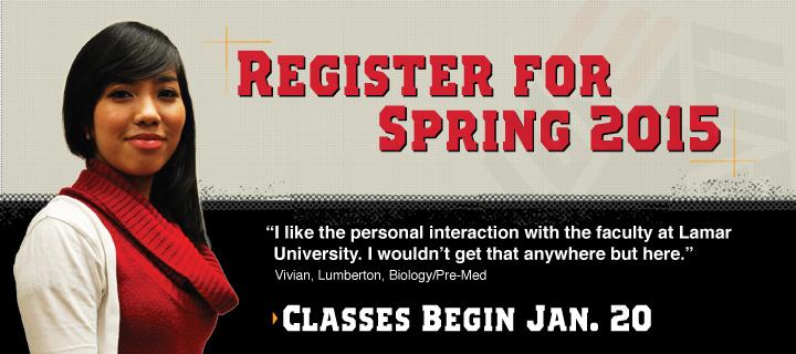 Register for Spring 2015