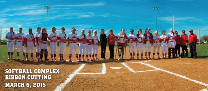 Congrats to Women's Softball - Lamar Unviersity - Grand Opening of Softball Complex