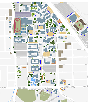 Campus Map Lamar University In Texas Lamar University