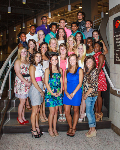 Lu Signs 27 Students To 2012 2013 Cheerleading Team