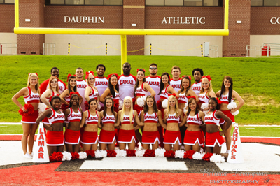 Lamar University cheer team