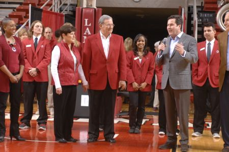 Jimmy and Susan Simmons with Chancellor McCall