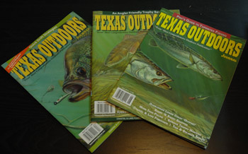 Texas Outdoor magazine covers