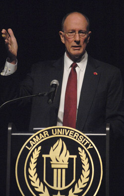 President Evans at convocation