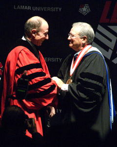 President Evans and President Emeritus Simmons
