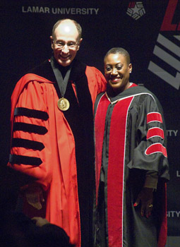 President Evans and Regent Williams
