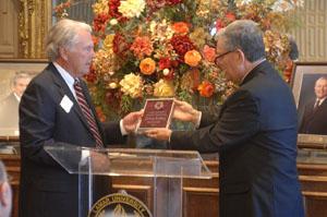 Presenting award
