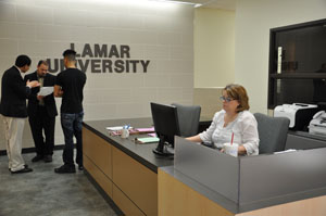 Reception area of Undergraduate Advising Center