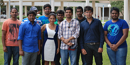 Nandita Berry with LU international students