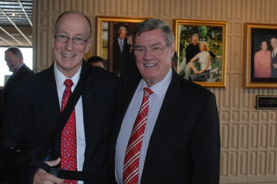 President Evans with Jack Gill