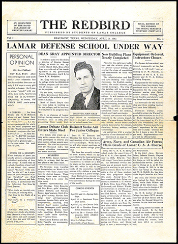 Early copy of LU newspaper