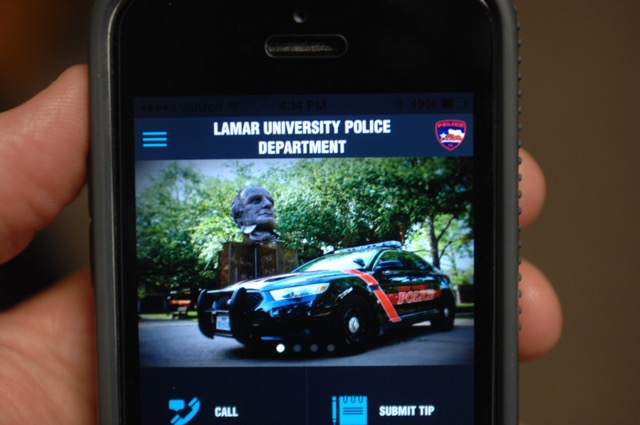 Screenshot of LU's MyPD app