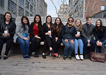 Students at High Line Park