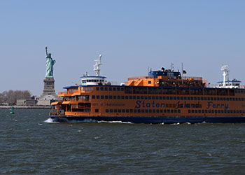 Staten Island Ferry with Statue of Liberty beyond