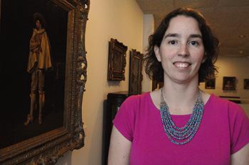 Julia Fischer in the Dishman Art Museum