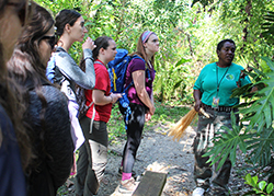 Students with nature guide