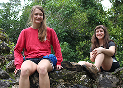 Two students in Belize