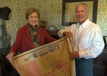 Original 1892 Gladys City map donated to LU