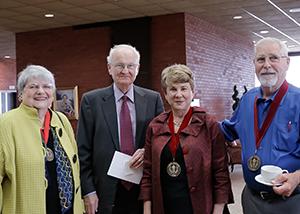 Awards program attendees