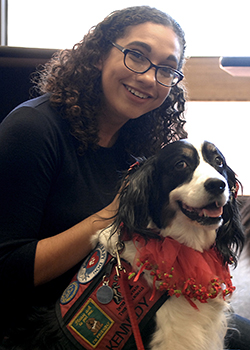 Unwinding with therapy dogs