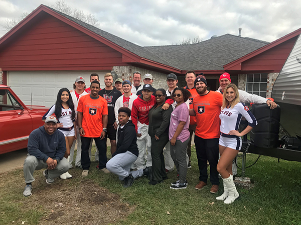 Big Red partners with Astros to help local family