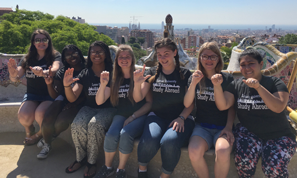 Bilingual in Barcelona: LU students expand ASL proficiency in experiential learning