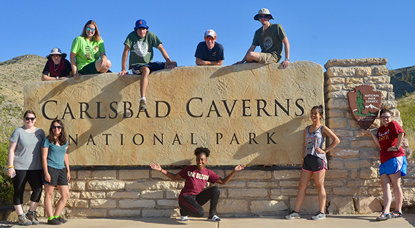 Two-week tour traverses time, students visit Texas geologic outcrops