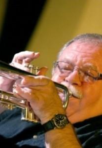 Dennis Dotson playing trumpet