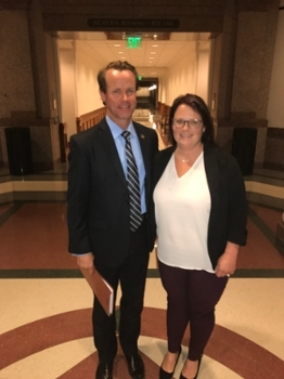 LU Nurse Partners with Rep. Phelan to Improve Healthcare for Low-Income Moms