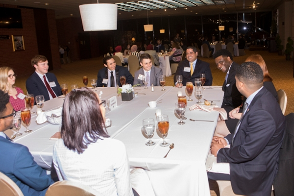 Alumni, student networking event tradition continues