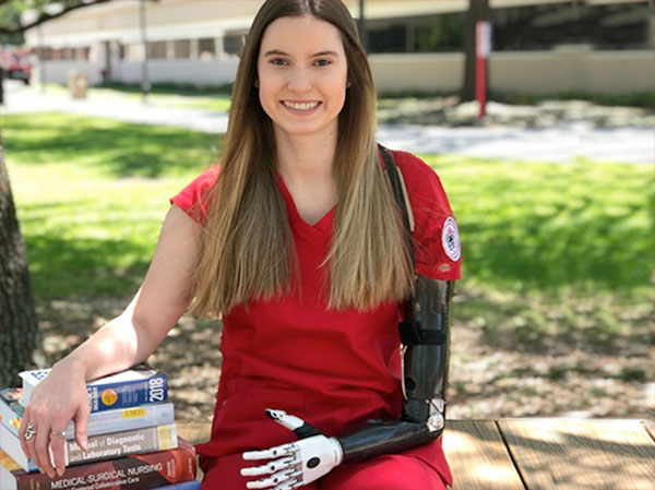 Hannah Gerald achieves her life-long dream of becoming a nurse