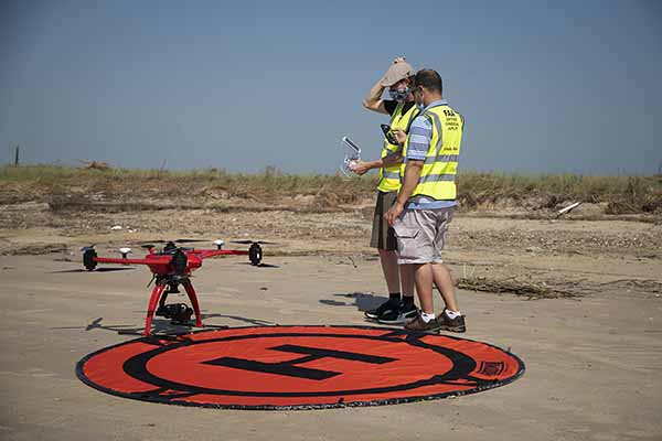 LU aerial drone surveys Hurricane Laura's damage to coastal protection