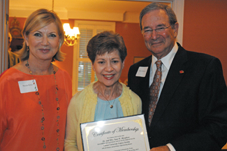 LU Foundation President Marsha Hoffer, Patsy Morphew and President James Simmons