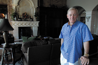 Larry Lawson at his home