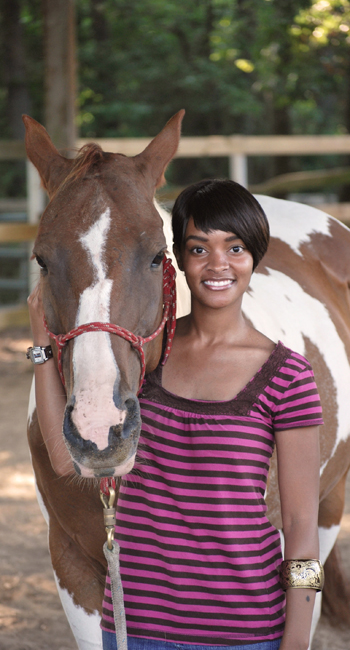 Ashley Brown with horse