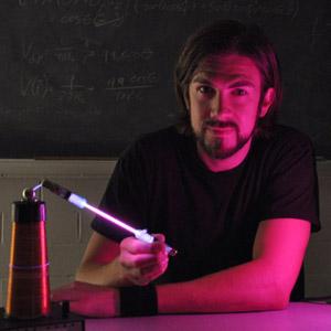 Nick Lanning in physics lab