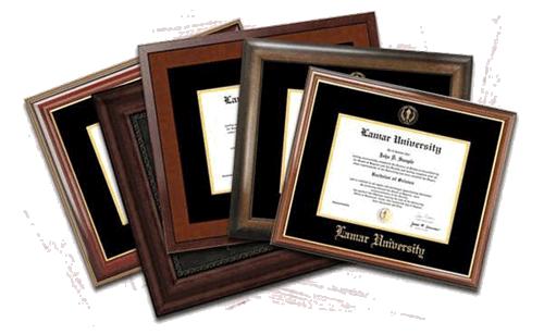 Diploma Frames - Lamar University