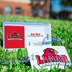 Lamar University Luggage Tag