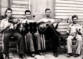 Men on porch with instruments