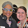 Social Work students simulate aging experience