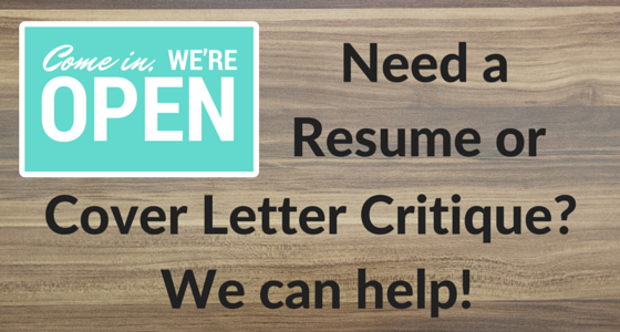 resume and cover letter help available at the center for career and professional development
