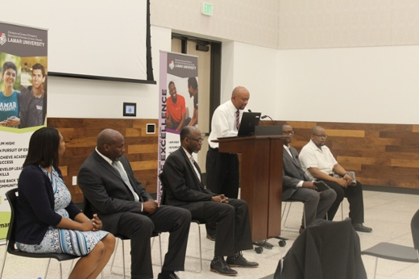 Faculty who participated in the Men of Excellence Kick-Off