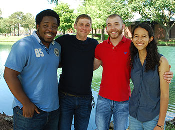 the four students who designed the john gray center pond makeover