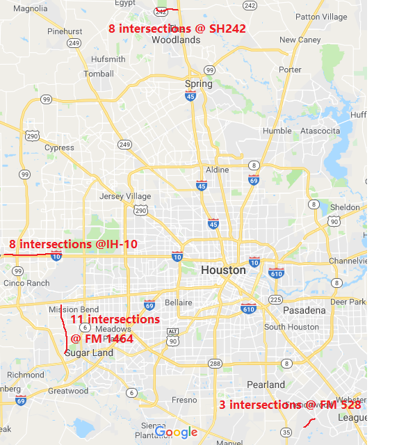 txdot traffic map houston Implementation Of Proactive Traffic Signal Control System At